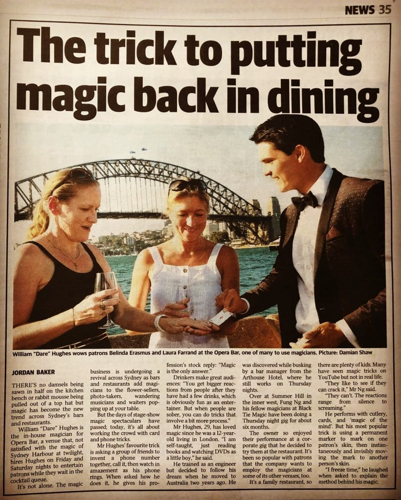 Dare Magician at Darlinghurst Sydney - Circular Quay Sydney Opera Bar