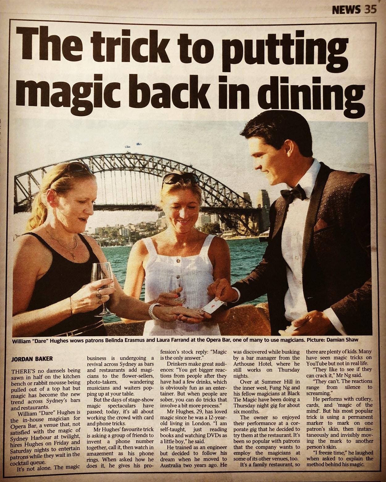 Dare Magician at Darlinghurst Sydney - Circular Quay Sydney Opera Bar