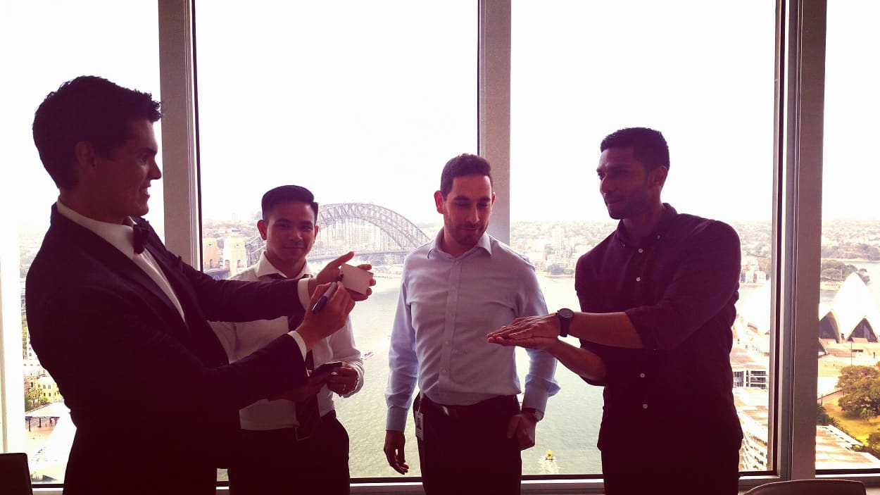 Dare Magician at Sydney Circular Quay for Christmas Party