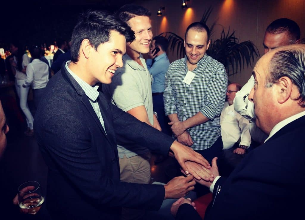 Dare Magician in Sydney Performs Close Up Magic for Christmas Party