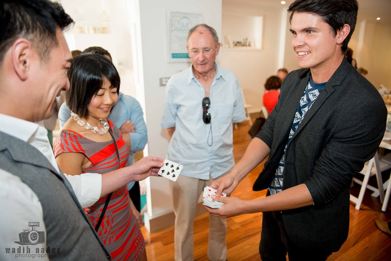 Dare the Sydney Magician Performs Close Up Magic at Restaurant in Crows Nest - Sydney Redfern