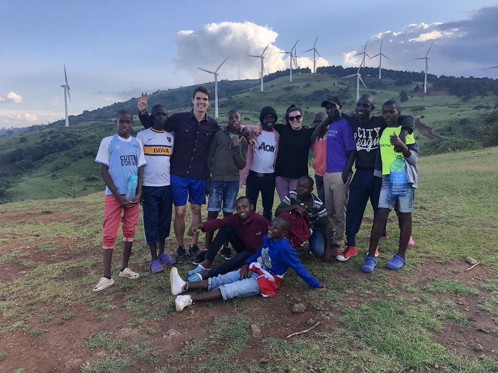 Hike up the hills with Maddi and some of the boys from Global Hope, Kenya